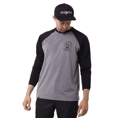 Longsleeve Męski Nervous Sp20 Island grey / black