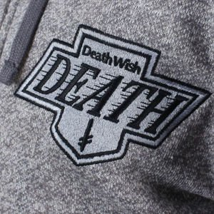 BLUZA DEATHWISH DEATH KINGS ZIP HOOD ATHLETIC GREY