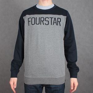 BLUZA FOURSTAR F15 CREW FOOTBALL GRE/NVY