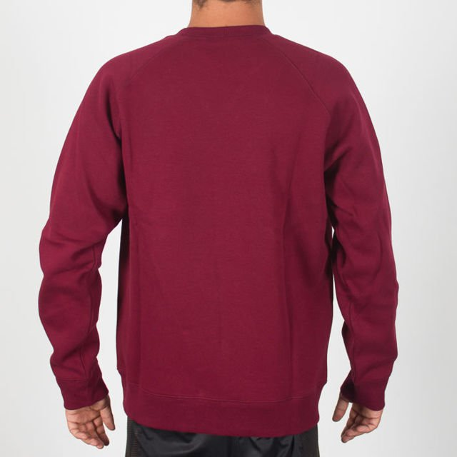 Bluza Carhartt Crew Chase Mulberry/gold