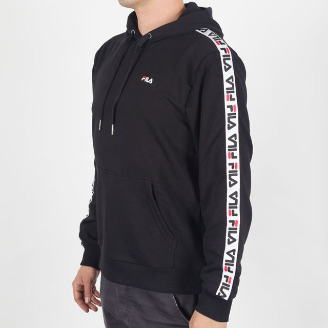 Bluza męska z kapturem Fila David Taped Hoody black