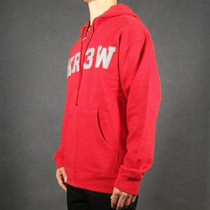Bluza Krew Fa12 Zip Hood Application Red