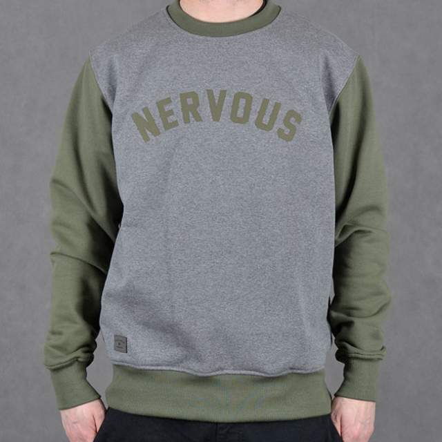 Bluza Nervous Crew Sp17 College gre/oli