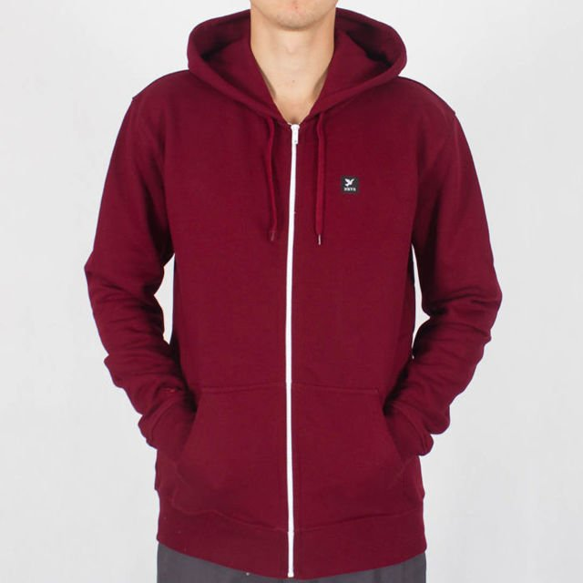 Bluza Nervous Zip Fa18 Icon Maroon
