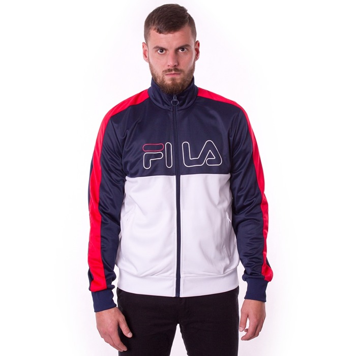 Bluza męska Fila track jacket Finn black iris / bright white / true red