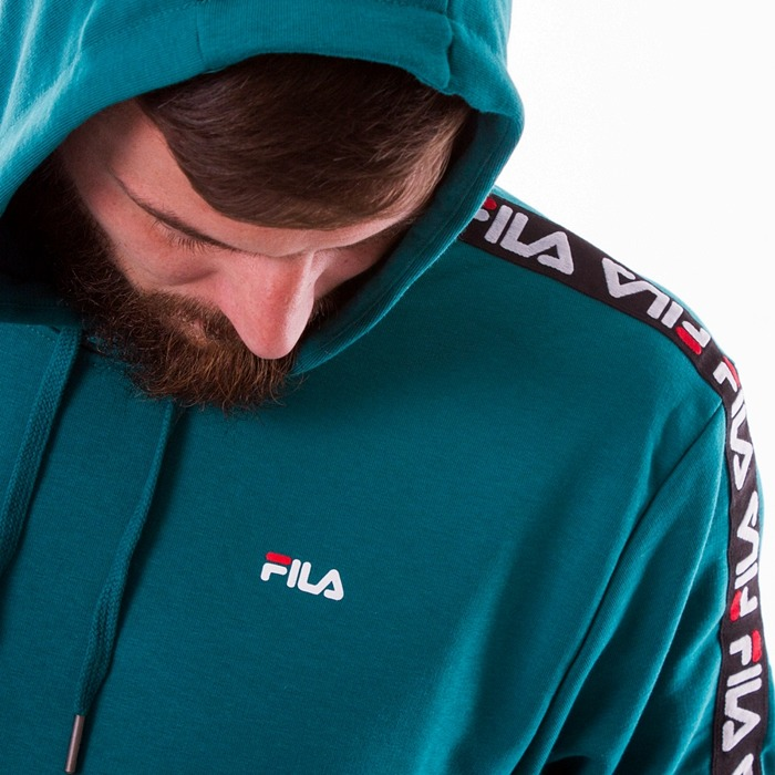 Bluza męska z kapturem Fila David Taped Hoody everglade
