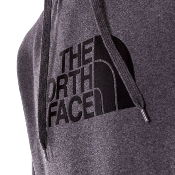 Bluza męska z kapturem The North Face Drew Peak PLV Hood medium heather grey (NF00AHJYLXS)