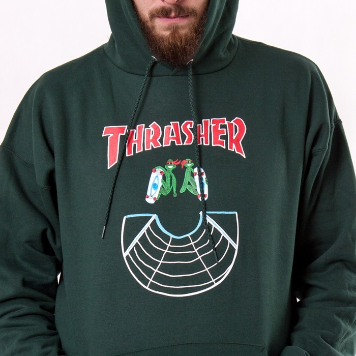 Bluza z kapturem Thrasher Hoody Doubles forest green