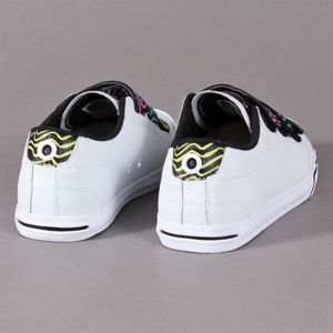 Buty Damskie DVS Farah Velcro White Leather Zig