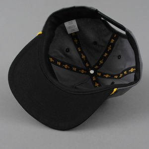 CZAPKA VOL4 ADJUSTABLE SNAP CHARC/BLK