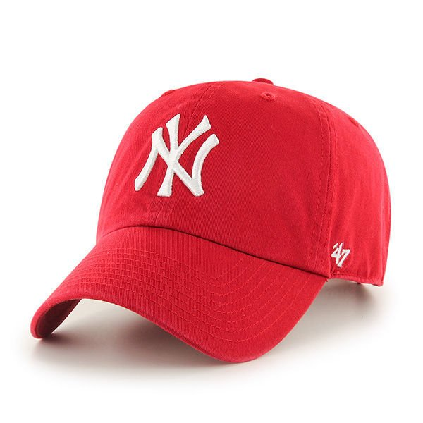 CZAPKA Z DASZKIEM 47 brand MLB New York Yankees Clean Up red