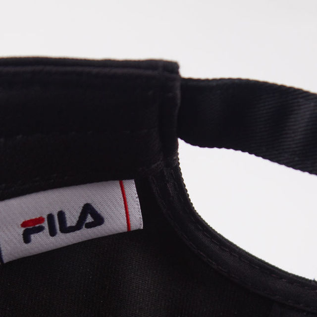 Czapka Fila 6 Panel Back Linear Log Blk