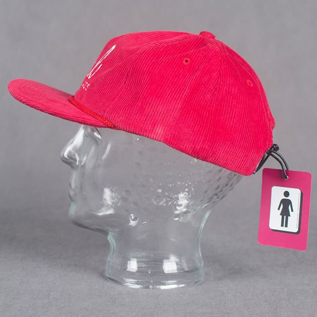 Czapka Girl Century Corduroy Red