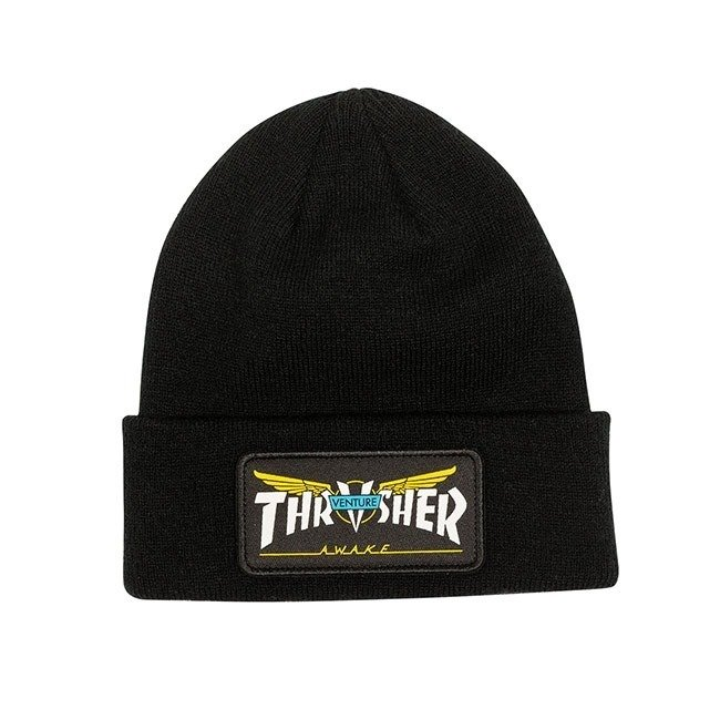 Czapka Thrasher x Venture Collab Patch Beanie black