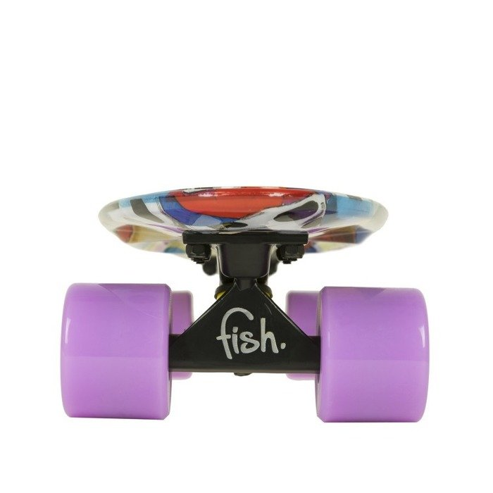 Deskorolka Fish Skateboards Print Art Face Summer Purple