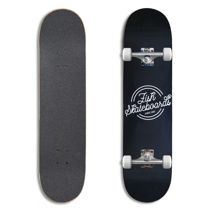 "Deskorolka Fish Skateboards Retro black 8"" x 31.88"""