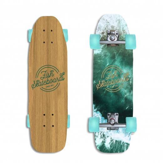 Deskorolka Fish Skateboards Surfskate Choppy