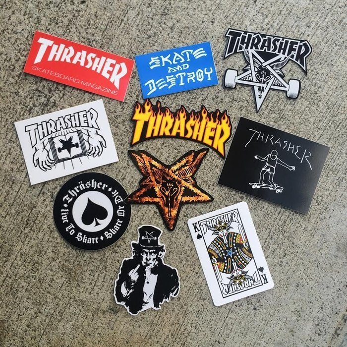 Komplet naklejek Thrasher Sticker Pack (10szt)