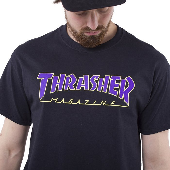 Koszulka Thrasher Outlined black / purple