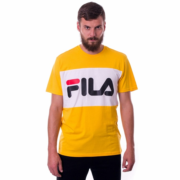 Koszulka męska FILA Men Day citrus / bright white