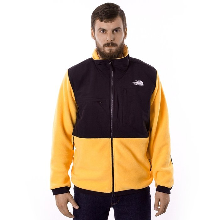 Kurtka polarowa męska The North Face Denali Jacket yellow / black (NF0A3TXAU70M1)