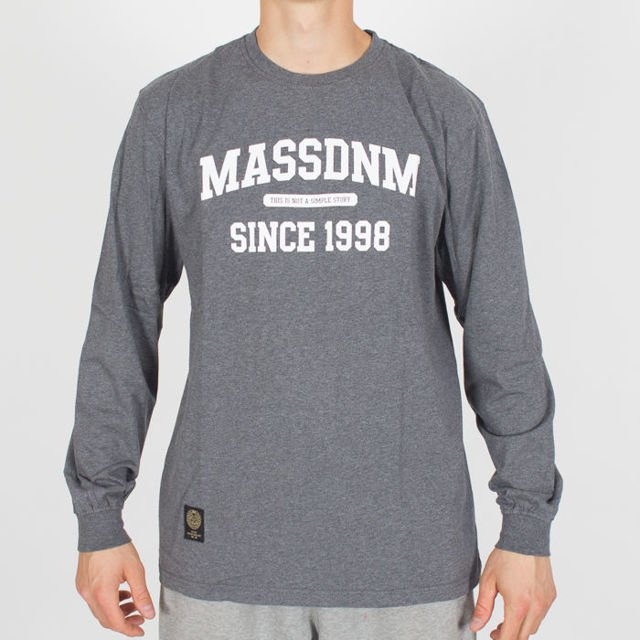 Longsleeve Mass Denim FA18 Campus dark grey heather