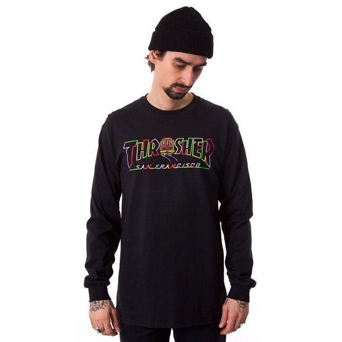 Longsleeve męski Thrasher Cable Car black