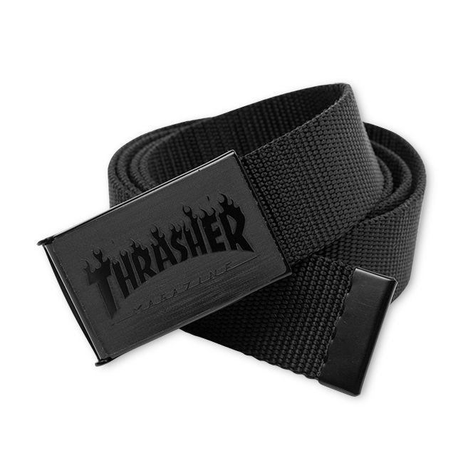 Pasek parciany Thrasher Flame Black